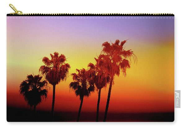 Sunset Palm Trees- Art By Linda Woods Carry-all Pouch