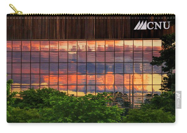 Sunset Reflections On A Wall Of Glass Carry-all Pouch