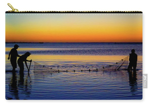 Sunset Seining On Copano Bay Carry-all Pouch