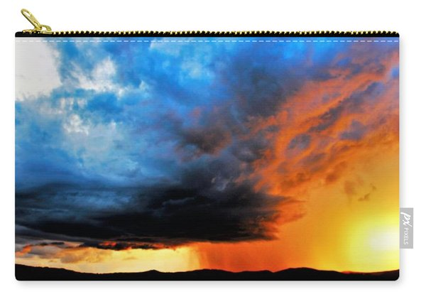 Carry-all Pouch featuring the photograph Sunset Storm by Candice Trimble