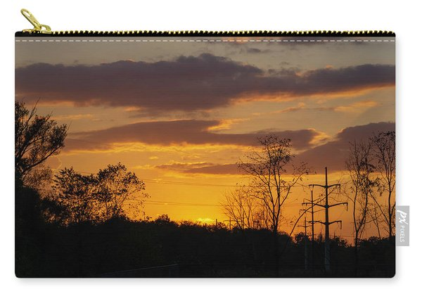 Sunset With Electricity Pylon Carry-all Pouch