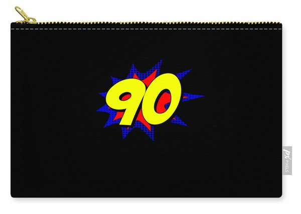 Superhero 90 Years Old Birthday Carry-all Pouch