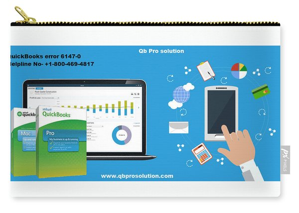 Support Quickbooks Error 6147, 0 In Your City Carry-all Pouch