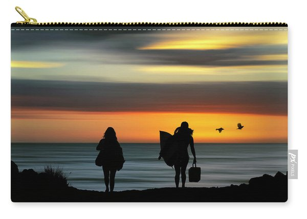Surfer Girls Silhouette Carry-all Pouch