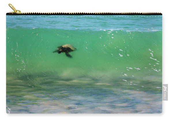 Surfing Turtle Carry-all Pouch