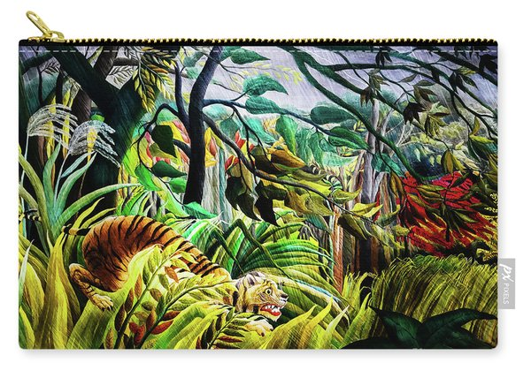 Tiger In A Tropical Storm Carry-all Pouch