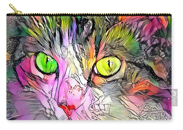 Surreal Cat Wild Eyes Carry-all Pouch