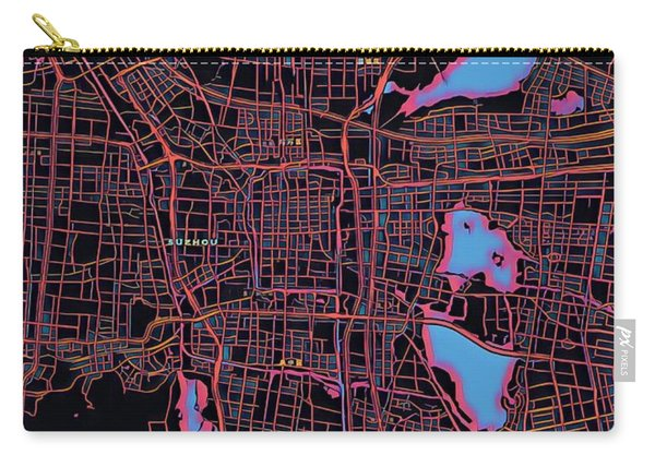 Suzhou City Map Carry-all Pouch