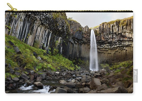 Svartifoss Waterfall In Iceland Carry-all Pouch