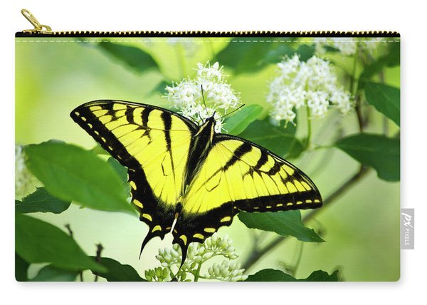 Swallowtail Butterfly Feeding On Flowers Carry-all Pouch
