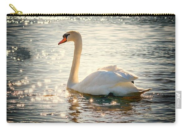 Swan On Golden Waters Carry-all Pouch