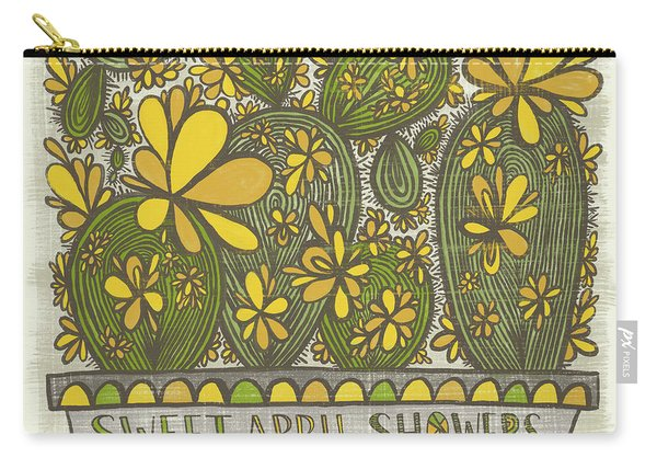 Sweet April Showers Do Bring May Flowers Thomas Tusser Quote Carry-all Pouch