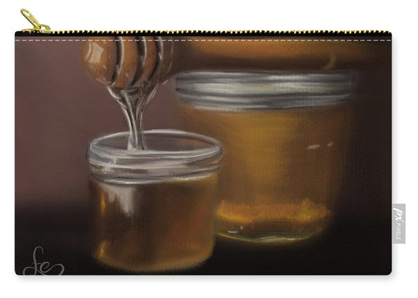 Carry-all Pouch featuring the painting Sweet Honey by Fe Jones