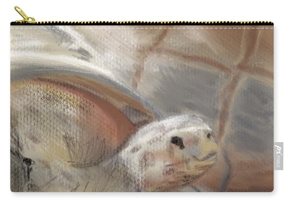 Carry-all Pouch featuring the digital art Sweet Tortoise by Fe Jones
