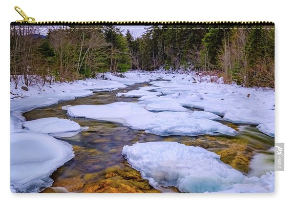 Carry-all Pouch featuring the photograph Swift River Winter  by Jeff Sinon