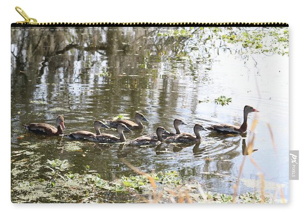Swimming Black-bellied Whistling Duck Family Carry-all Pouch