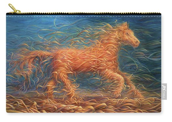 Swirly Horse 1 Carry-all Pouch
