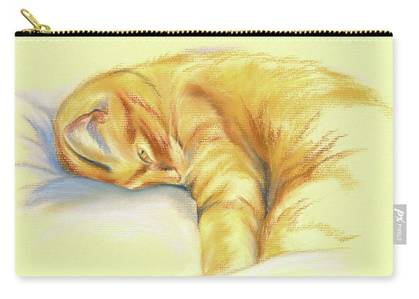 Tabby Cat Relaxed Pose Carry-all Pouch