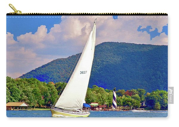 Tacking Lighthouse Sailor, Smith Mountain Lake Carry-all Pouch