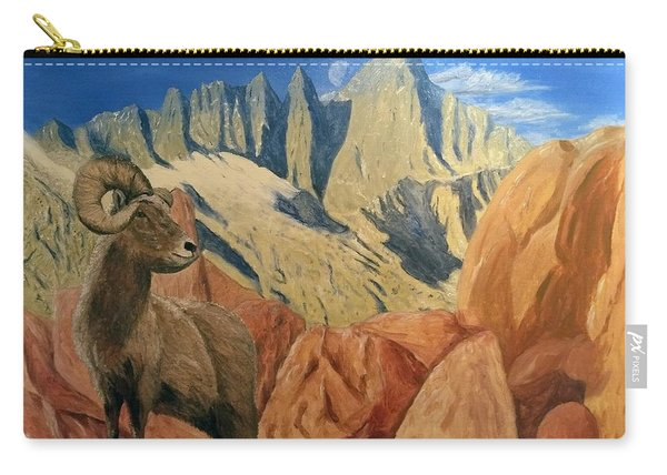 Carry-all Pouch featuring the painting Taking In The Morning by Kevin Daly