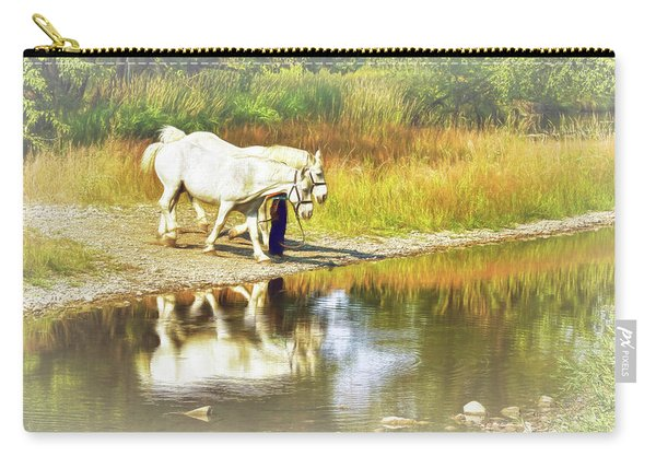 Leading The Horses To Water Carry-all Pouch