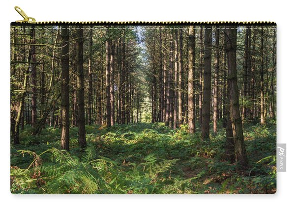 Carry-all Pouch featuring the photograph Tall Trees In Sherwood Forest by Scott Lyons