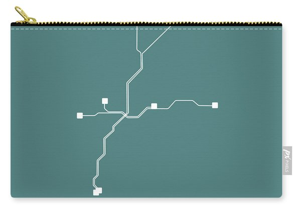 Teal Atlanta Subway Map Carry-all Pouch