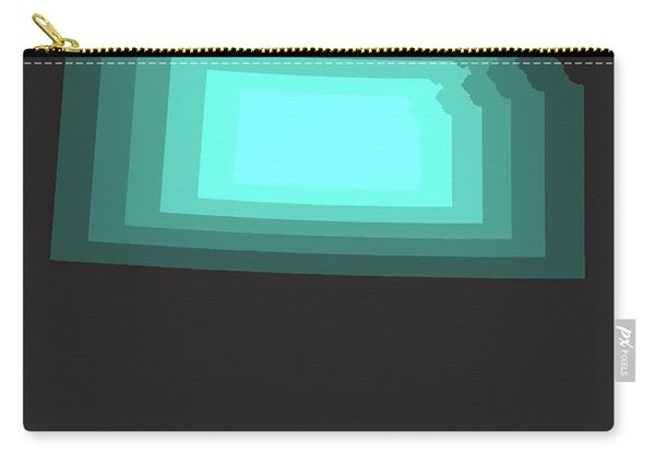Teal Map Of Kansas Carry-all Pouch