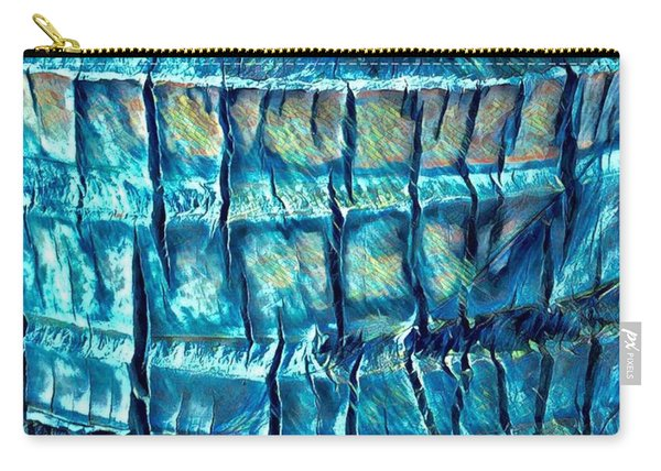 Teal Palm Bark Carry-all Pouch