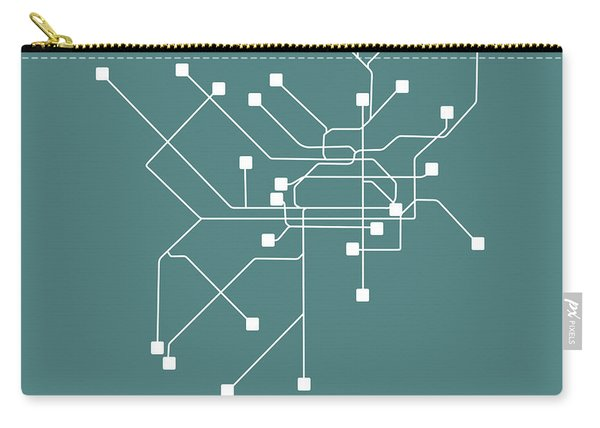 Teal Philadelphia Subway Map Carry-all Pouch