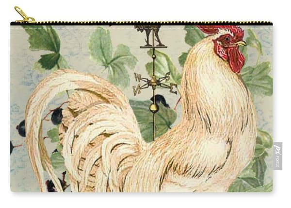 Teal Rooster Carry-all Pouch