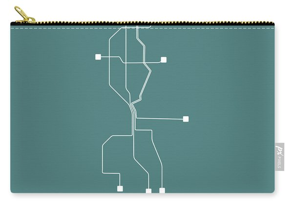 Teal Subway Map Of Seattle Carry-all Pouch
