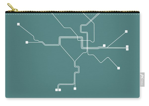 Teal Washington, D.c. Subway Map Carry-all Pouch