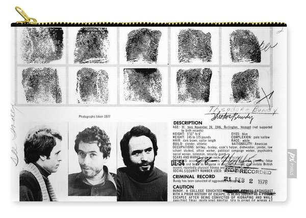 Ted Bundy - Wanted By The Fbi Carry-all Pouch