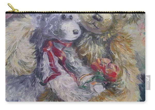 Carry-all Pouch featuring the painting Teddy Bear Honeymooon by Ryn Shell