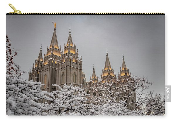 Temple In The Snow Carry-all Pouch