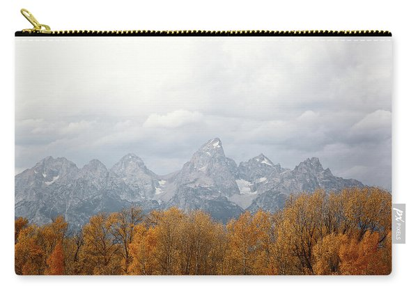 Carry-all Pouch featuring the photograph Teton Foliage by Jean Clark