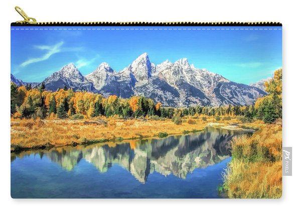 Grand Teton National Park Mountain Reflections Carry-all Pouch