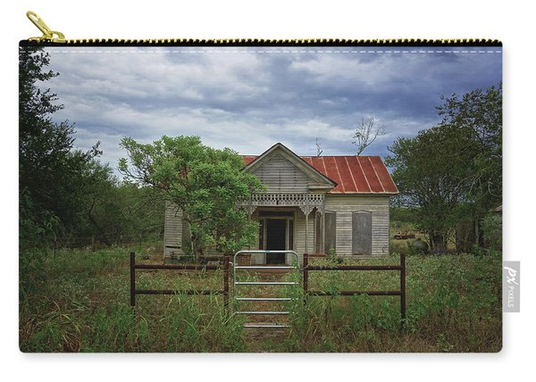 Texas Farmhouse In Storm Clouds Carry-all Pouch