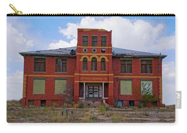 Texas Ghost Town School  Carry-all Pouch