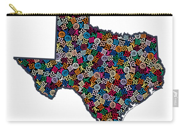 Texas Map - 1 Carry-all Pouch