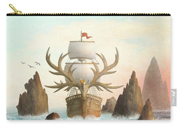 The Antlered Ship Carry-all Pouch