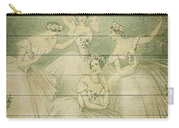 The Ballet Dancers Shabby Chic Vintage Style Portrait Carry-all Pouch