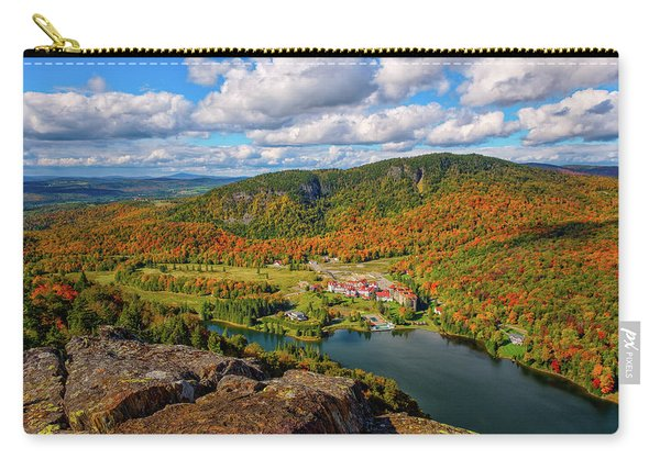 Carry-all Pouch featuring the photograph The Balsams Resort Autumn. by Jeff Sinon