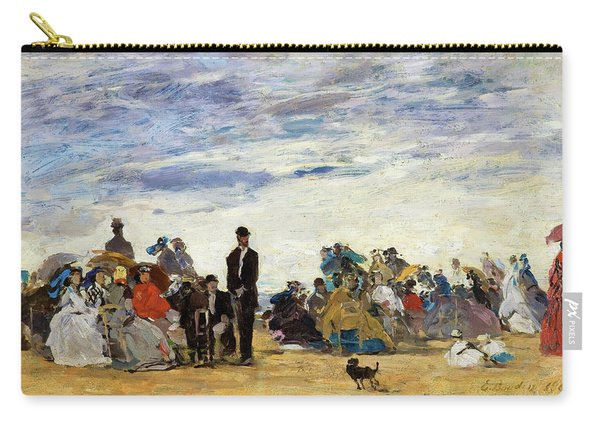 The Beach At Trouville - Digital Remastered Edition Carry-all Pouch