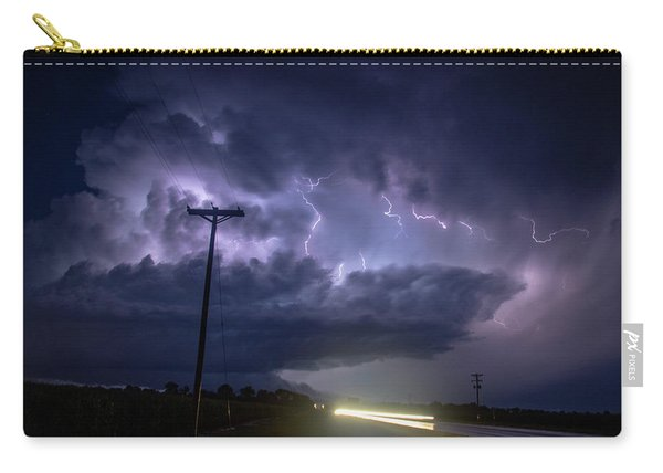 Carry-all Pouch featuring the photograph The Best Supercell Of The Summer 043 by NebraskaSC