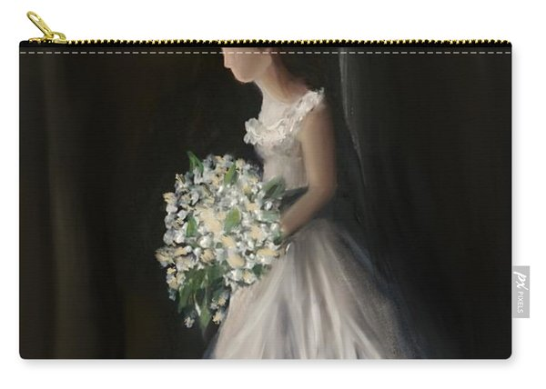 Carry-all Pouch featuring the painting The Big Day by Fe Jones