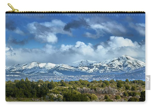 The City Of Bariloche And Landscape Of Snowy Mountains In The Argentine Patagonia Carry-all Pouch