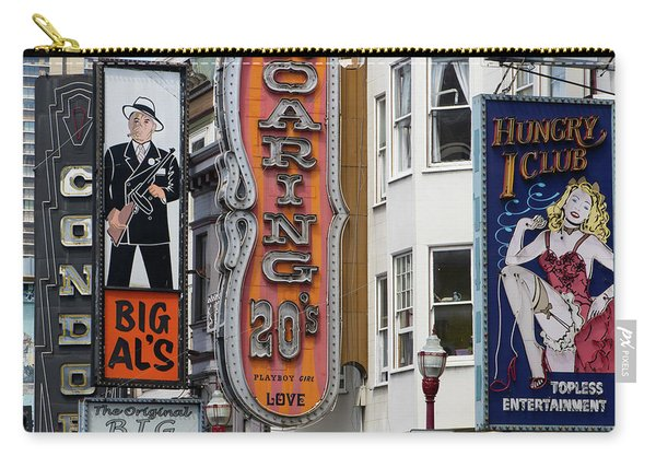 The Condor The Original Big Als And Roaring 20s Adult Strip Clubs On Broadway San Francisco R463 Sq Carry-all Pouch
