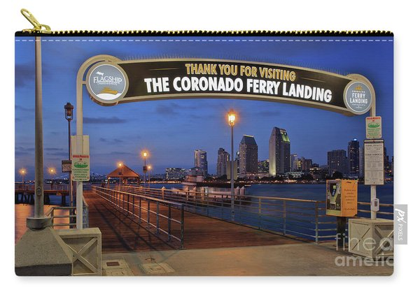 Carry-all Pouch featuring the photograph The Coronado Ferry Landing by Sam Antonio Photography